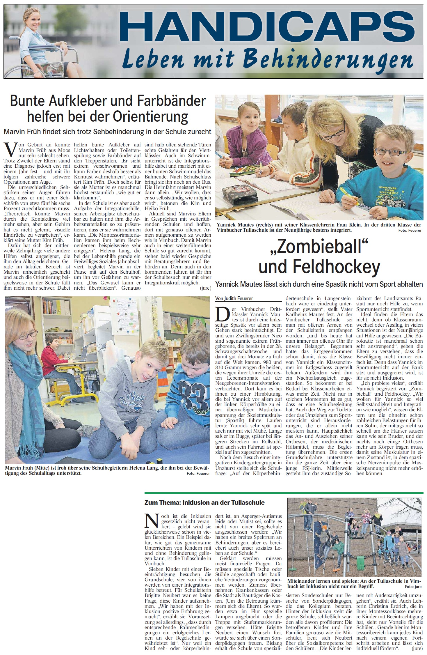 Badisches Tagblatt, 22.01.2014: Handicaps